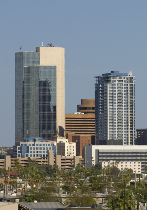 Downtown City of Phoenix skyline