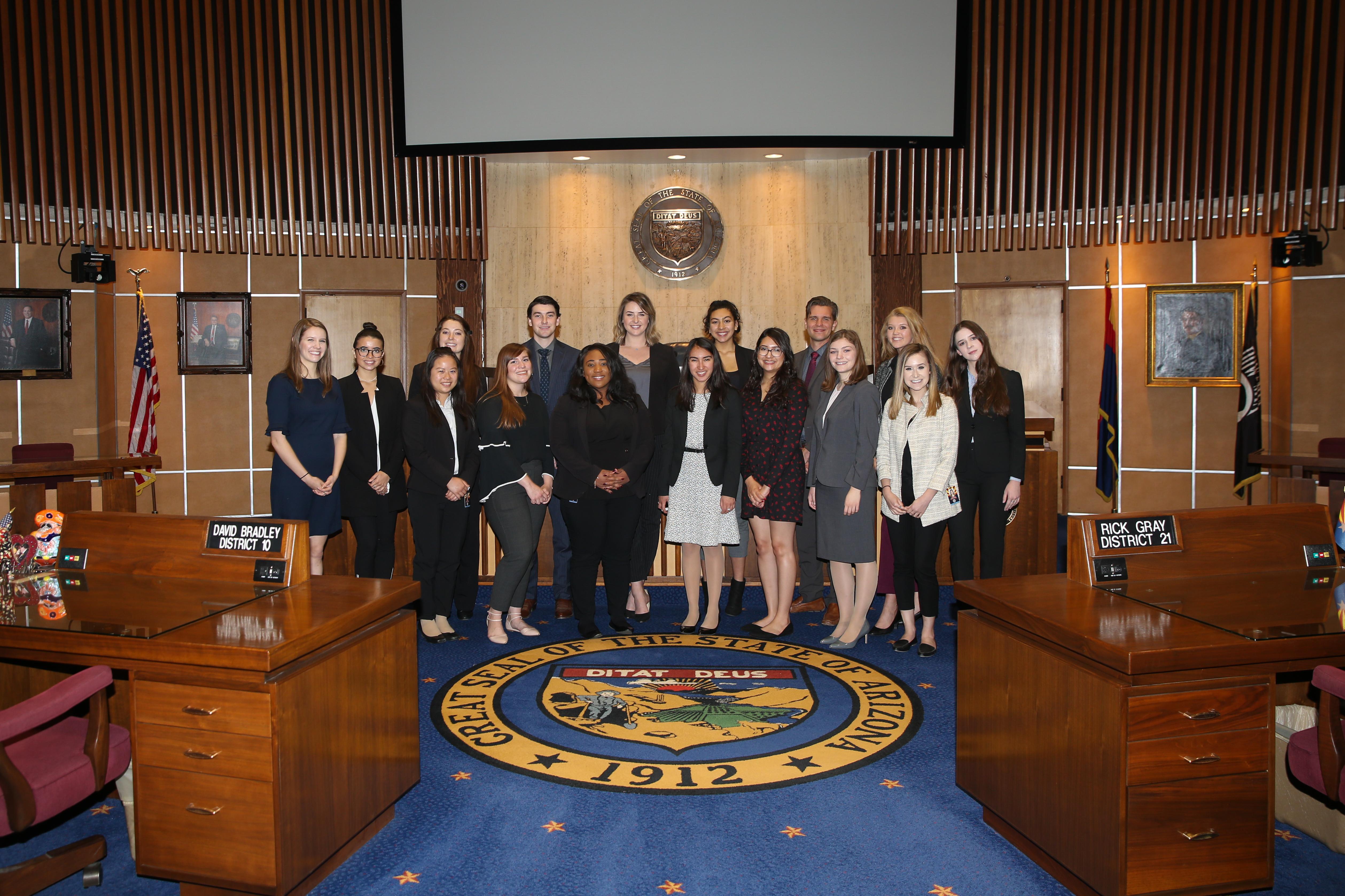 University of Arizona Legislative Interns at the Arizona State Capitol
