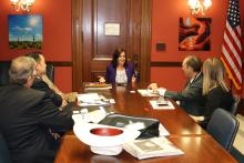 UArizona staff speak with Congresswoman McSally in her office